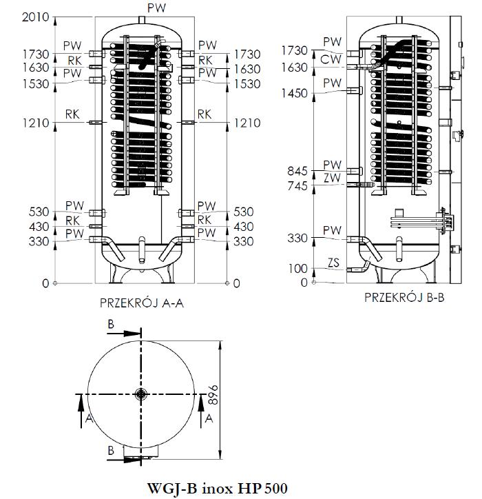 rysunek WGJ-B inox HP 500