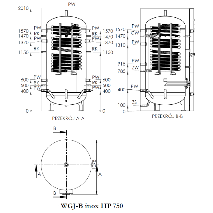 rysunek WGJ-B inox HP 750