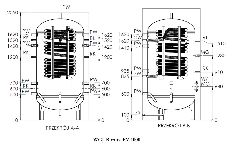 rysunek WGJ-B PV 1000